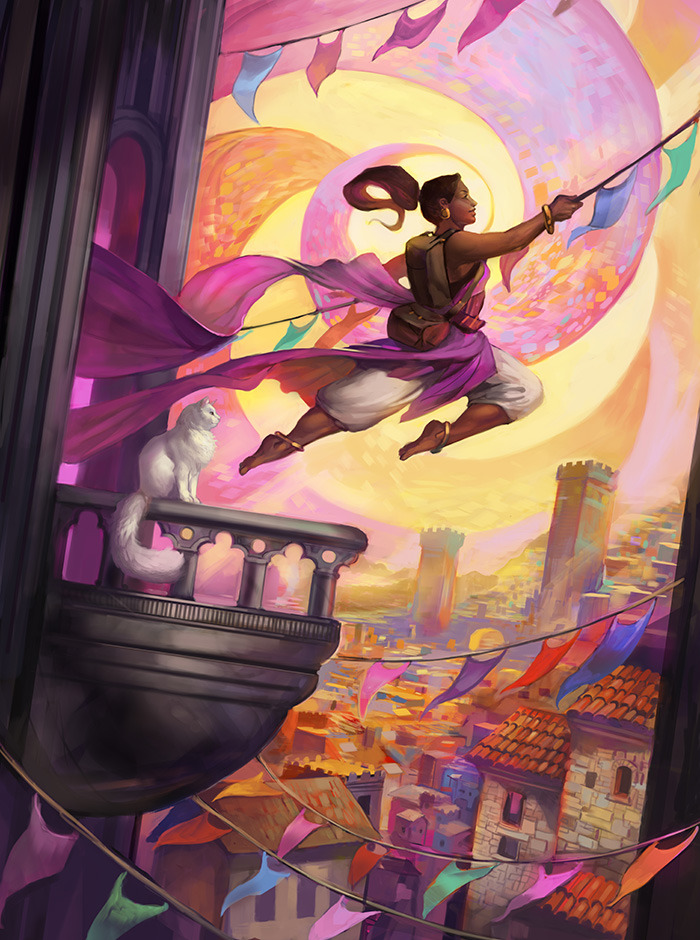 Fortune's Favored, by Julie Dillon  (This is available as postcards and prints for some Kickstarter backers).
